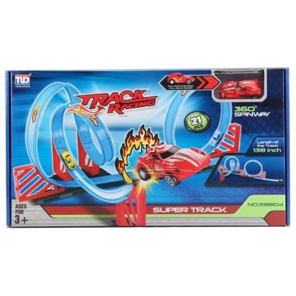 Pull Back Super Track Racer (w/1car) 68804