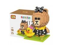 Brown Bear Sister Choco & Sally Chicken 9761