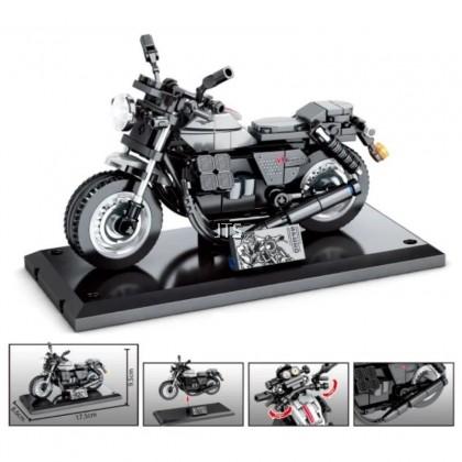 Black V9 Motorcycle 701127