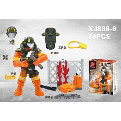 Fire Fighter 1:36 Minifigures XJ-838