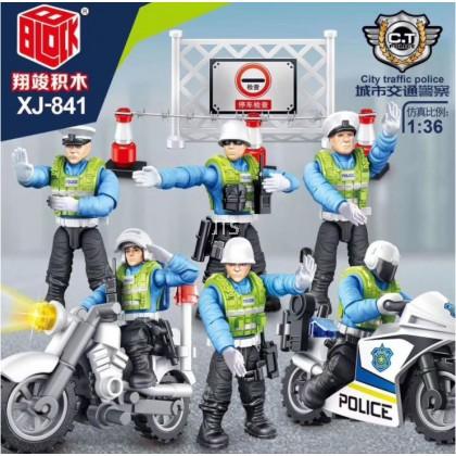City Traffic Police 1:36 Minifigures XJ-841