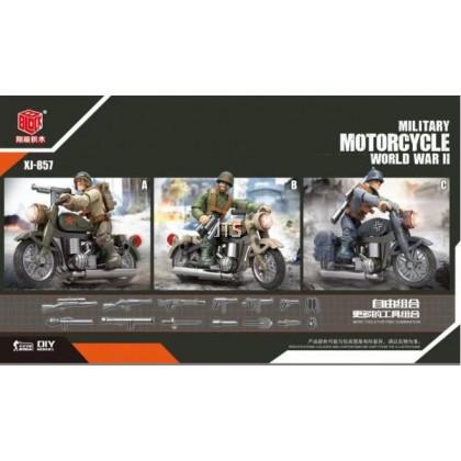 Military Motorcycle World War II XJ-857
