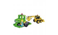 2in1 Bulldozer & road roller 1817
