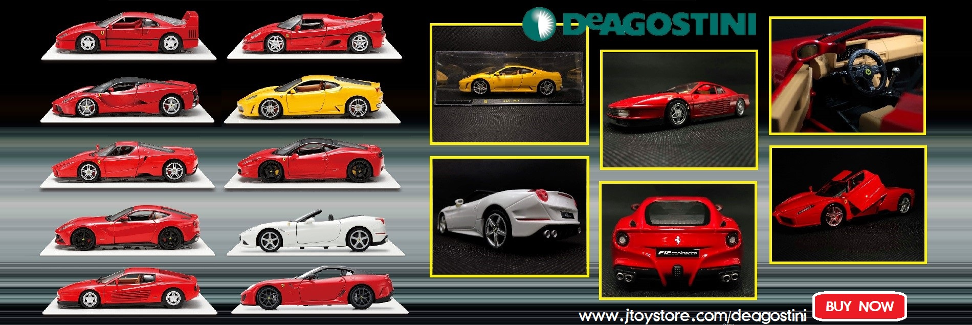 DeAgostini Le Grandi Ferrari Collection Diecast Model Car