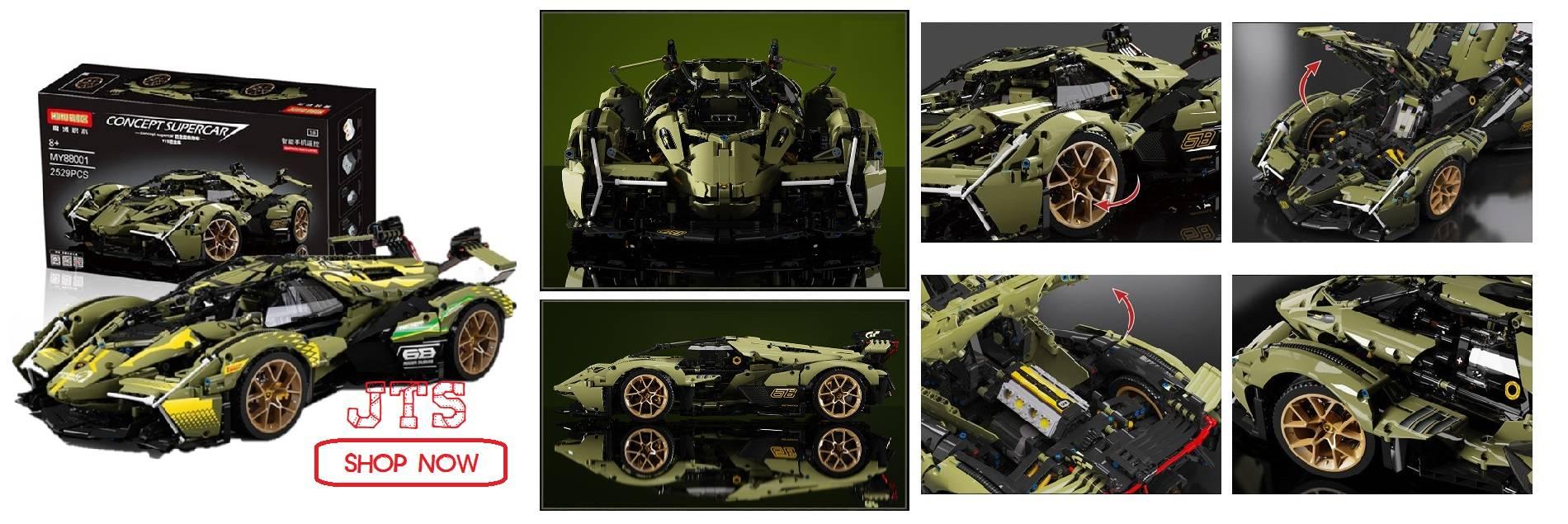 MOYU BLOCK Lamborghini V12 88001